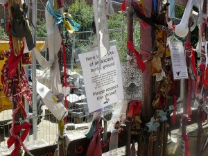 Cross Bones graveyard is at Redcross Way, Southwark, London, SE1. Contact the IUSW to arrange a tour